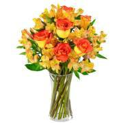 Bouquet with alstroemerie and yellow roses