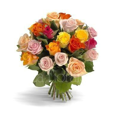 Bouquet of roses to the florist´s pleasure