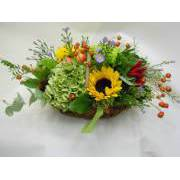 Centerpiece of seasonal mixed flowers